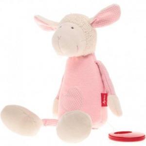 Sigikid doudou boîte à musique mouton rose coton bio - doudou bio