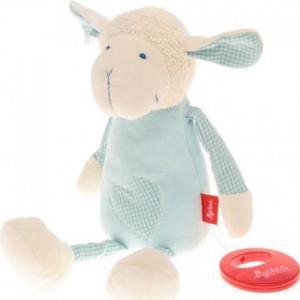 Sigikid doudou boîte à musique mouton bleu coton bio - doudou bio