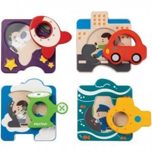 Double puzzle véhicules plantoys 'planwood'
