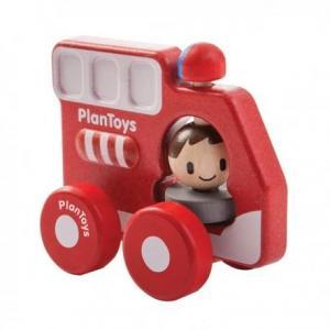 Camion pompiers premier age  'planwood'  - jouet plantoys