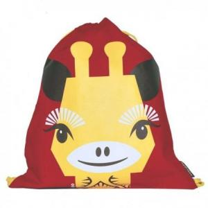 Coq en pâte sac de gym maternelle rouge girafe - mibo
