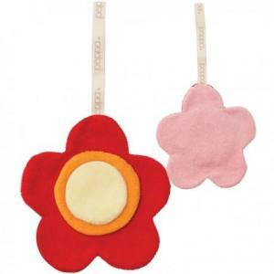 Peppa attache sucette doudou fleur - coton bio - equitable
