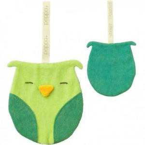 Peppa attache sucette hibou - doudou bio - equitable