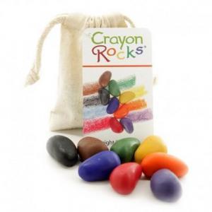 Crayon rocks  sachet 8 cailloux cire naturelle - crayons enfants