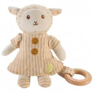 Peluche everearth mouton -  anneau de dentition - peluche bio
