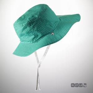 KIETLA Chapeau Pois vert 12-18 mois