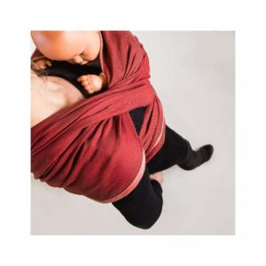 NEOBULLE Echarpe de portage rouge velours