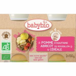Babybio Pomme Abricot Céréales 4m