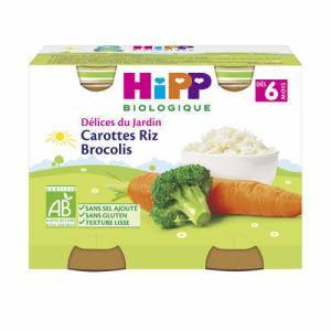 HiPP Carottes Riz Brocolis 6 mois
