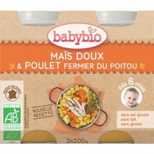Babybio Menus Maïs doux Poulet 8m