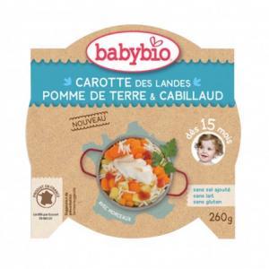 Assiette Bébé Carotte des Landes, Pomme de Terre - Cabillaud 260g