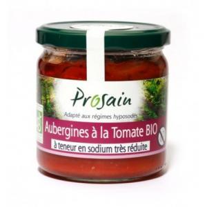 Aubergines cuisinées à la tomate bio