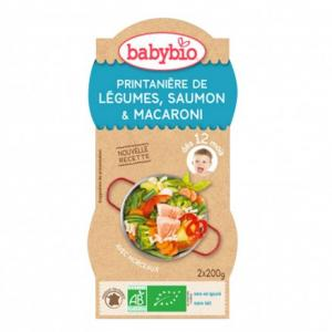 Bols bébé Printanière de Légumes, Saumon - Macaroni 2x 200g