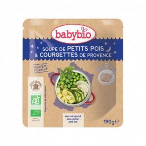 Doypack bébé Soupe de Petits Pois - Courgettes de Provence 190g