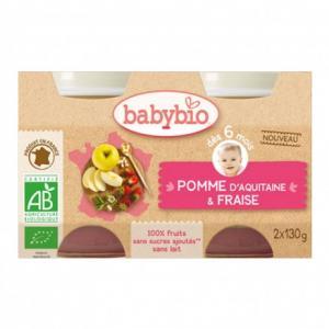 Petit pot bébé - Pomme d'Aquitaine - Fraise