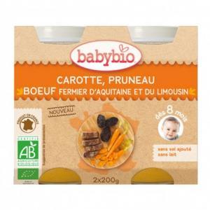 Petit pot bébé Carotte, Pruneau, Boeuf fermier d'Aquitaine - du Limousin