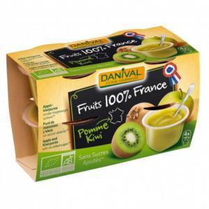Purée 100% France Pomme - Kiwi