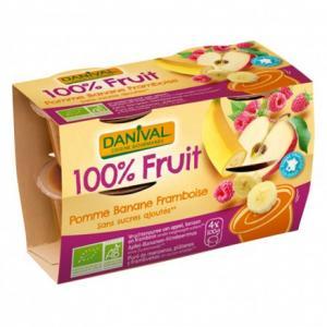 Purée 100% Fruit Pomme Banane - Framboise