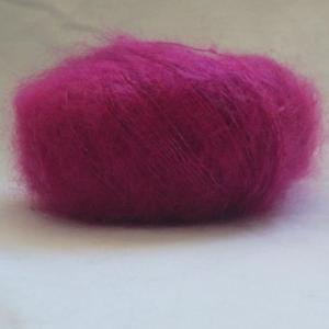 Fil à tricoter mohair de chevreau et soie groseille