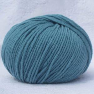 Fil à tricoter 100% laine mérinos peignée bleu canard aiguille 4