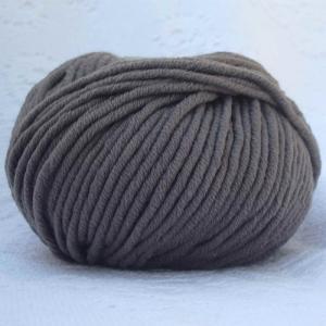 Fil à tricoter 100% laine mérinos peignée marron glacé aiguille 6