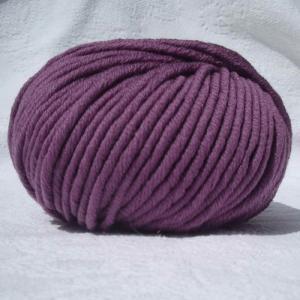 Fil à tricoter 100% laine mérinos peignée marsala aiguille 6