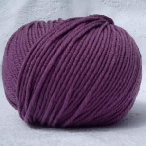Fil à tricoter 100% laine mérinos peignée marsala aiguille 4