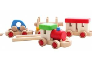 Train en bois - Jeu de construction