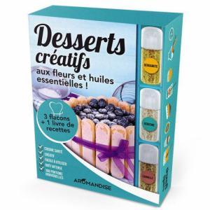 Livre Coffret Desserts créatifs aux Cristaux huiles essentielles