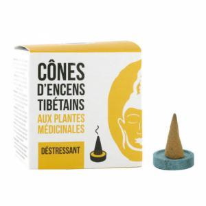 Cône d'encens Tibétains Déstressant aux plantes médicinales - 15 cônes