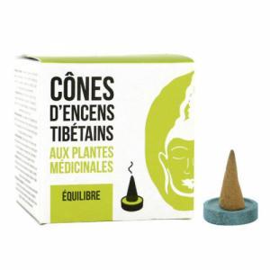 Cône d'encens Tibétains Equilibre aux plantes médicinales - 15 cônes