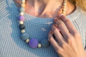 Collier d'allaitement et de portage Purple - Gray Genévrier - KC044
