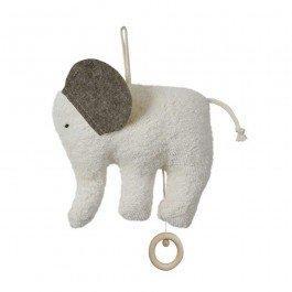 Eléphant musical avec anneau en bois