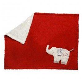 Tapis de jeu Eléphant en coton biologique 75 x 100 cm