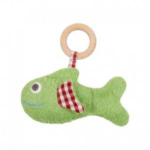 Hochet anneau de dentition poisson vert - vichy  efie 15 cm - hochet