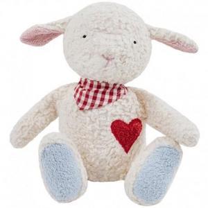 Peluche efie petit mouton amoureux 36cm - jouet bio gots