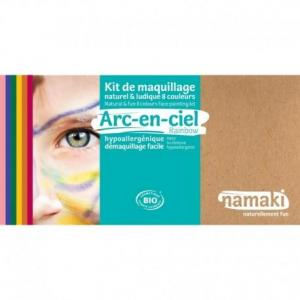 Coffret maquillage bio namaki '8 couleurs arc en ciel' - maquillage
