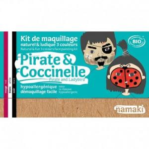 Mini coffret maquillage bio namaki '3 couleurs pirate - coccinelle'