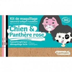 Mini coffret maquillage bio namaki '3 couleurs chien - panthère