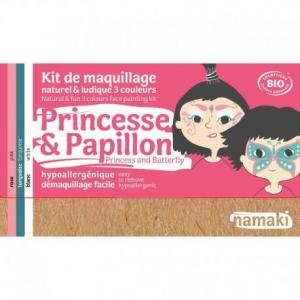 Mini coffret maquillage bio namaki '3 couleurs princesse - papillon