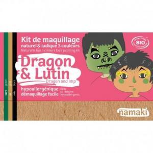 Mini coffret maquillage bio namaki '3 couleurs dragon - lutin -