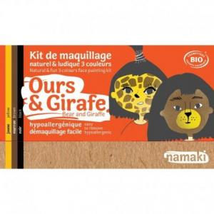 Maquillage bio namaki '3 couleurs girafe - ours - maquillage enfant