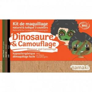 Maquillage bio namaki '3 couleurs dinosaure - camouflage -