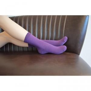 Chaussettes bio violet