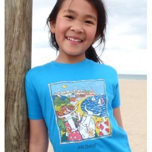 Tee-shirt bio bleu azur Holidays