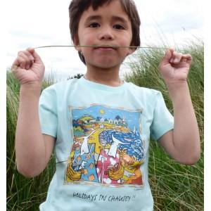 Tee-shirt bio bleu clair Holidays in Chausey