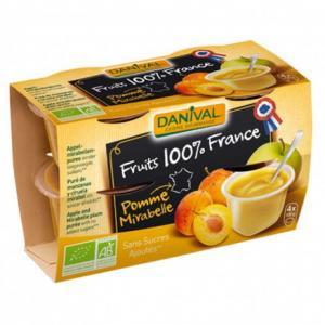 Purée 100% France Pomme - Mirabelle