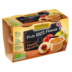 Purée 100% France Pomme - Nectarine
