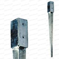 Support de poteau à enfoncer 7x7x75cm acier galvanisé