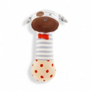 Hochet squeaker organic farm buddies chien boxer - jouets bio